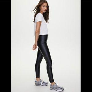 Aritzia Wilfred Free Daria pants vegan leather L